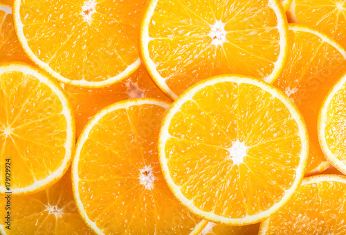 Foto op Aluminium Vruchten Orange background