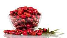 Dry Cankerberry In Glass Bowl ...