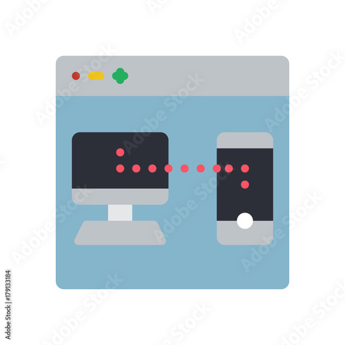 Fotografie, Obraz  User Experience - Webpage Devices Sync - (Flat)