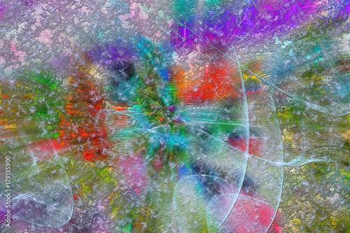 Fotodibond 3D Kolorowe wzory