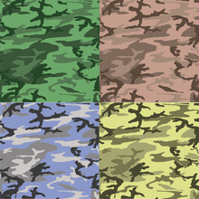 Seamless Camouflage Pattern Ve...