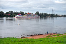 River Cruise Ships On Neva Riv...