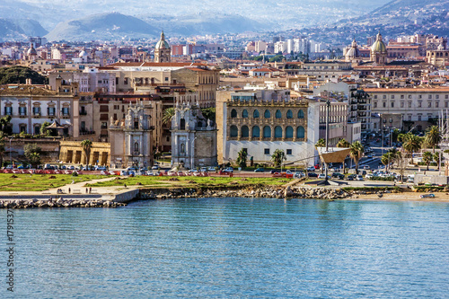 Photo sur Toile Palerme Palermo city seafront view, Sicily, Italy