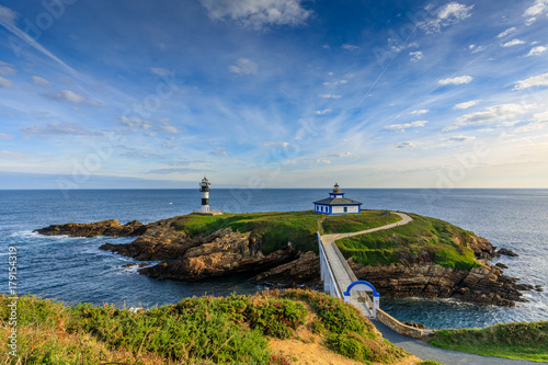 Fototapeten Leuchtturm Ribadeo lighthouse