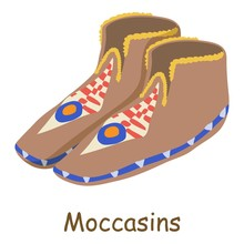 Moccasins Icon, Isometric 3d S...