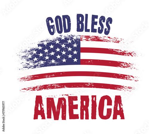 God bless America Wallpaper Mural