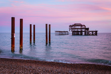 Ruins Of The West Pier At Suns...