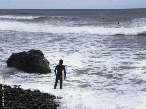 Plakat Surferzy na Teneryfie