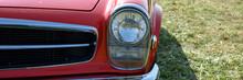 Front Eines Schönen Alten Autos Mit Chrom