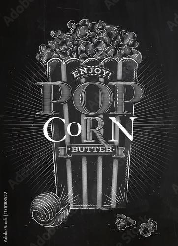 Kreda z popcornem na plakat