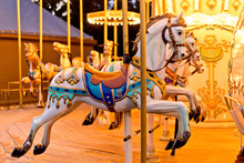 Illuminated Retro Carousel At ...