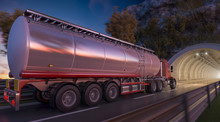 Image Of A Tanker Going Throug...