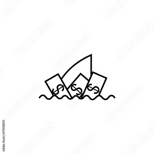 Business Shark Concept Icon Finance Symbol Buy This Stock Vector