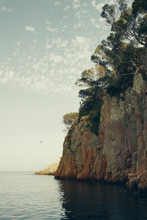 Landscape Of A Cliff Next To The Sea