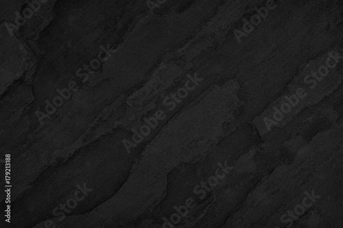 Foto  Stone black background, Texture dark gray surface luxury blank for design