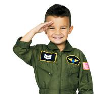Little Boy In Military Pilot A...