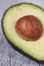 Close Up Of Green Avocado