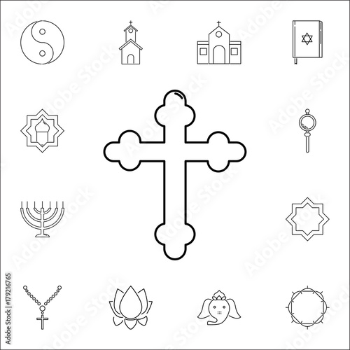 Cross Icon Set Of Religion Icons Web Icons Premium Quality Graphic