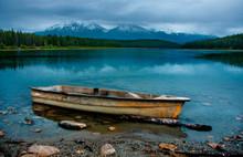 Boat In The Mountain Rain