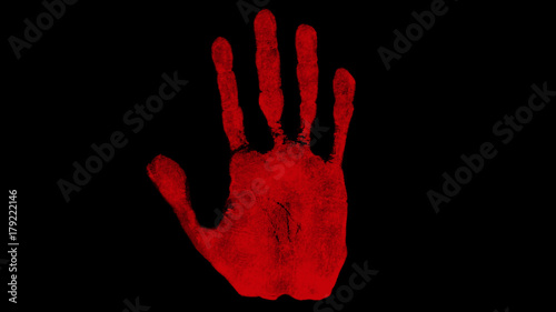 Fototapety, obrazy: Abstract bloody hand background