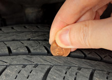 Checking Tire Tread Depth And ...