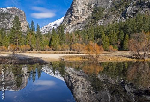 Keuken foto achterwand Grijze traf. mirror lake reflections