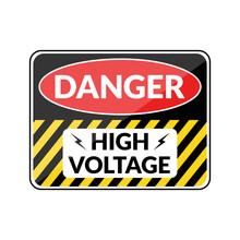 Danger High Voltage Switchboard Sign Design Illustration