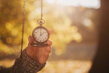 Antique Pocket Clock In Hands ...