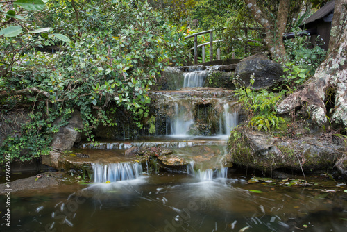 Aluminium Prints Mills waterfall in the garden