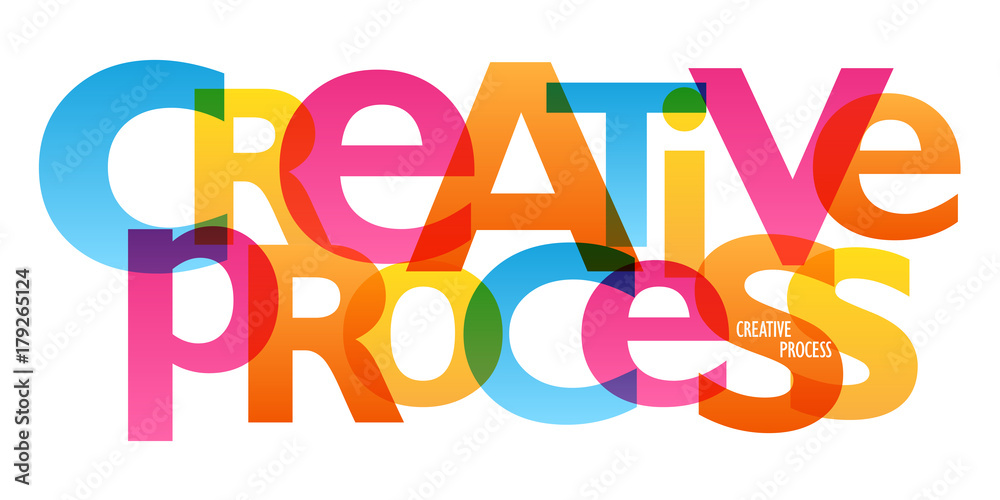 Fototapety, obrazy: CREATIVE PROCESS Overlapping Vector Letters Icon