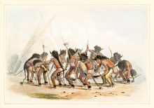 Old Watercolor Illustration Of...