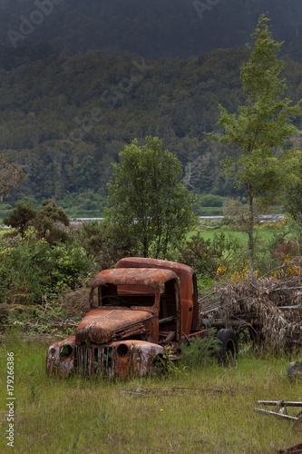 Stickers pour porte Pierre, Sable Carwrecks Junkyard Buller gorge