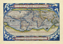 Old Map Of The World. Full Glo...