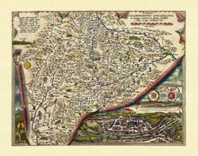 Old Map Of Salzburg Region. Ex...