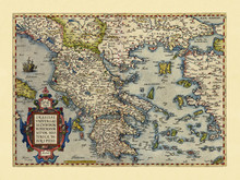 Old Map Of Greece. Excellent S...