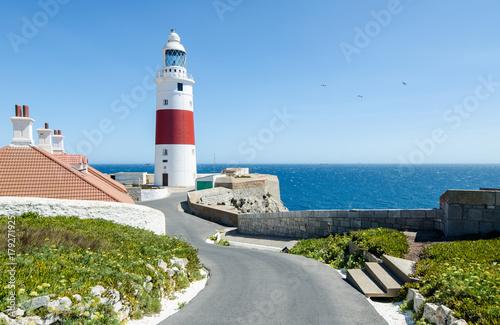 Foto op Aluminium Vuurtoren Europa Point Lighthouse (Trinity Lighthouse or Victoria Tower). British Overseas Territory of Gibraltar.
