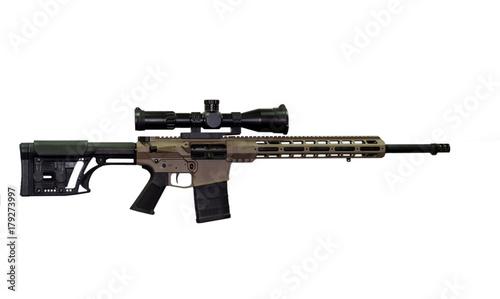 Fotografía  Sniper rifle on white background