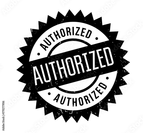 Photo Authorized rubber stamp
