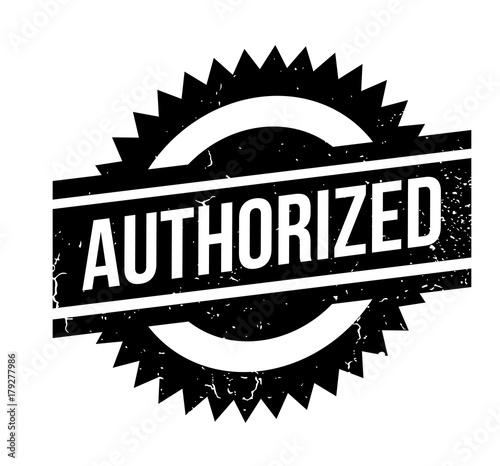 Authorized rubber stamp Canvas Print