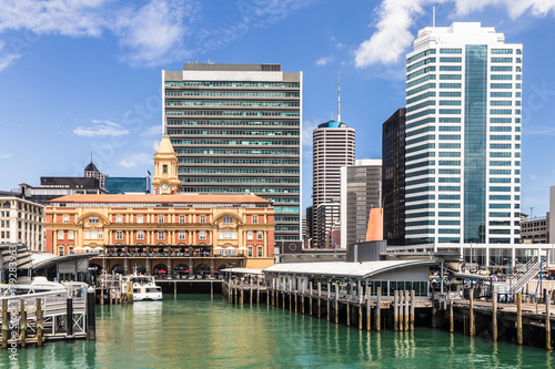 Auckland ferry building in New Zealand