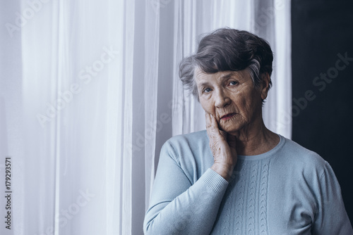 Elderly person suffering from Alzheimer Wallpaper Mural