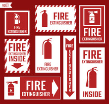 Fire Extinguisher Icon And Sig...