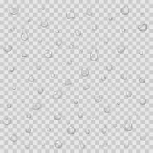 Seamless Pattern With Rain Drops Isolated Vector