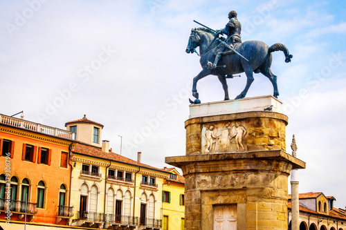 Photo  Equestrian statue of Gattamelata in Padua Donatello - Italy