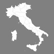 High quality map Italy with borders of the regions