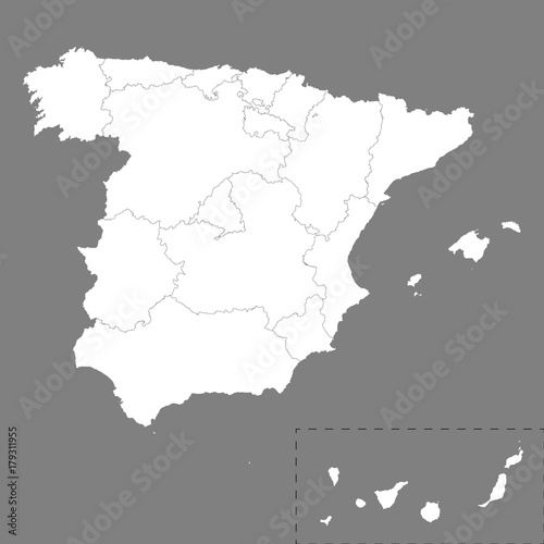 High quality map Spain with borders of the regions – kaufen ...