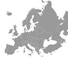 High Quality Map Europe With B...