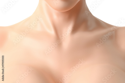 Fotomural  Beautiful female neck and cleavage