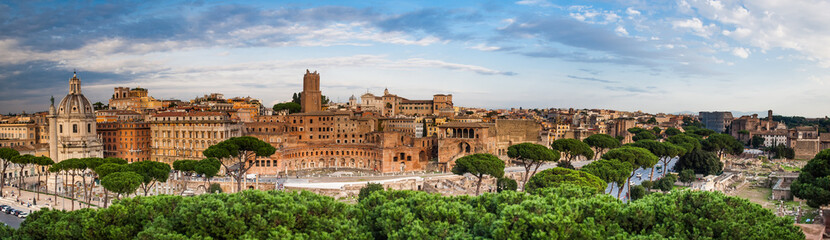 Fototapeta Panoramic view of the Roman Forum, Rome, Italy