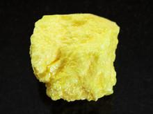 Raw Native Sulphur Stone On Da...